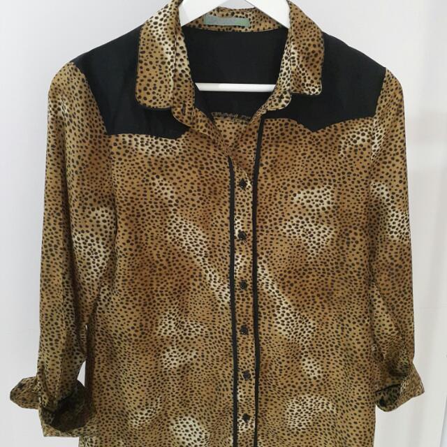 LEAF Leopard Blouse
