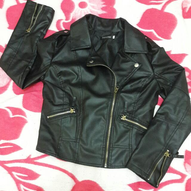 Leather Syntethic Jacket Made in Korea