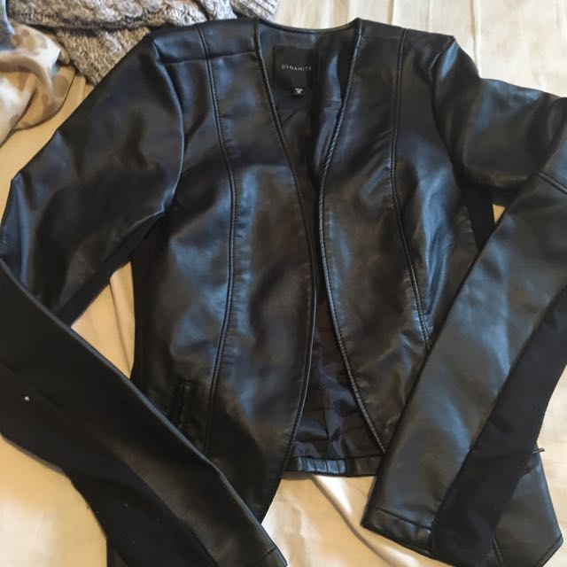 Leather Throw On