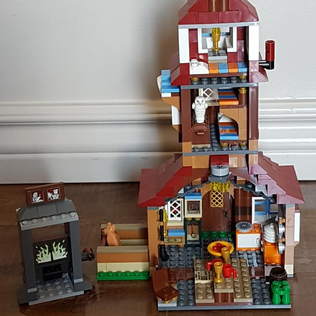 Lego Harry Potter 4840 The Burrow 100% Complete With Box And Instructions Minifigures
