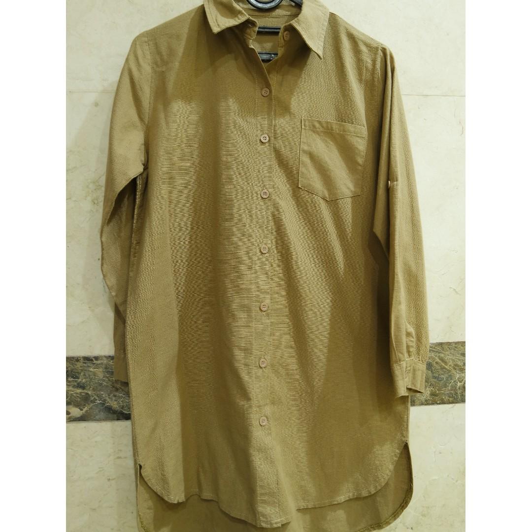 Light Brown Shirt Dress