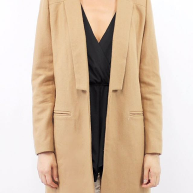 Lioness Camel Coat Size M