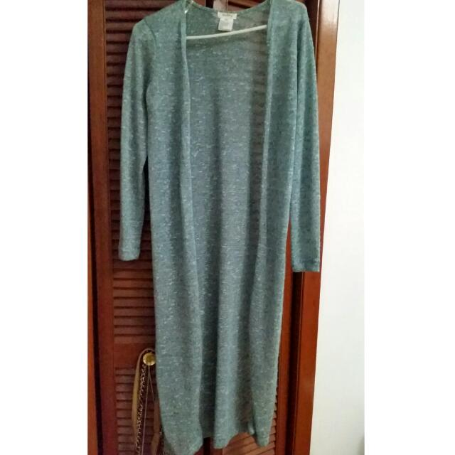 Long Floor Length Knit Cardigan