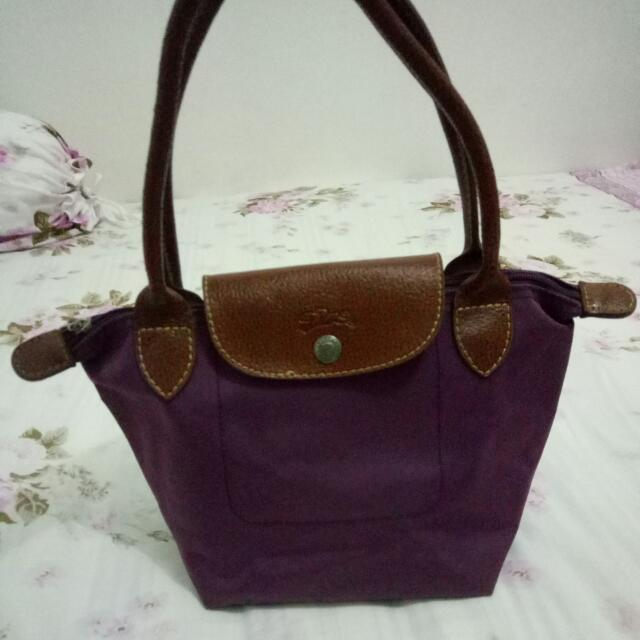 Longchamp Preloved Purple Small size