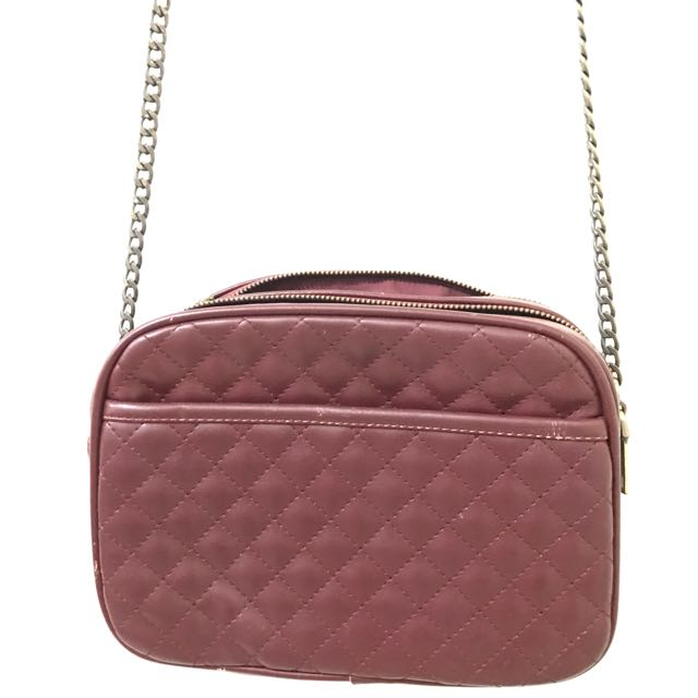 PULL And BEAR Maroon Bag