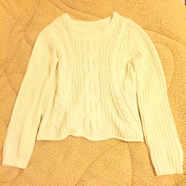 美國MICHAEL KORS經典白色毛衣