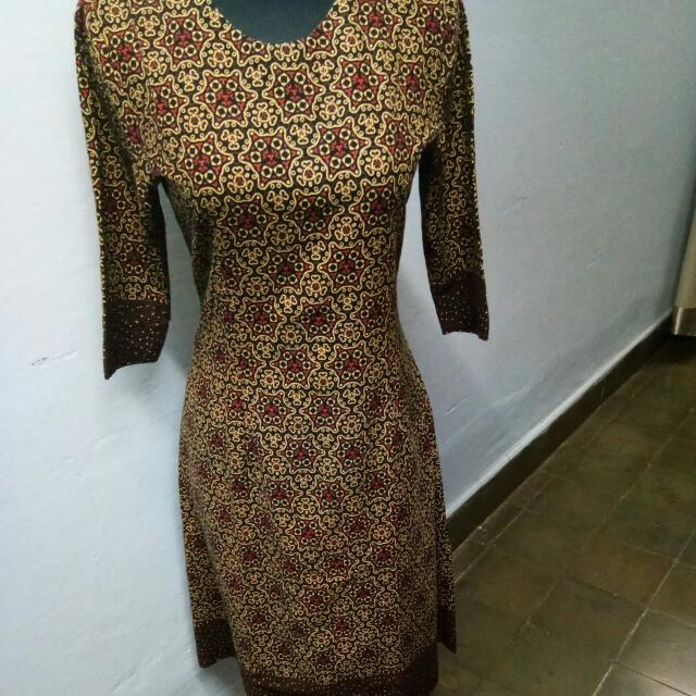 midi Batik Dress