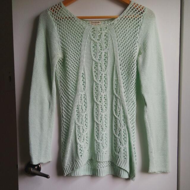 Mint Knit Sweater