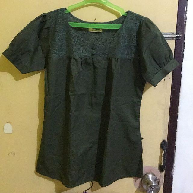 Moss Green Blouse