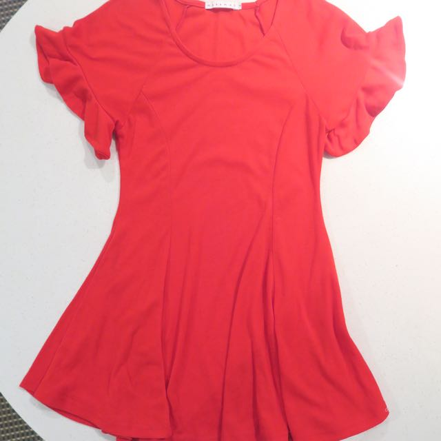 MOSSMAN Red Dress Size XS 6