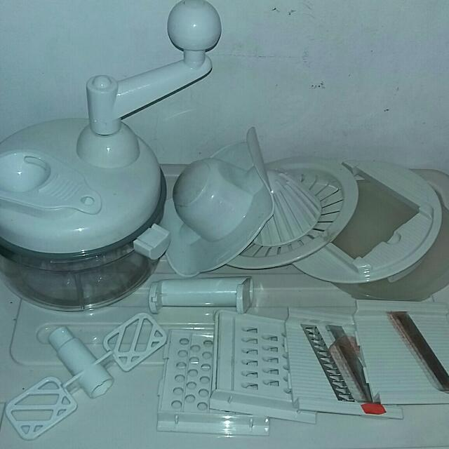 Multi-function Slicer, Grater, Juicer, Mixer Complete Set