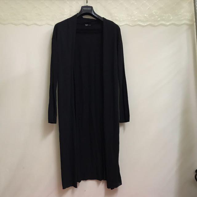 Net夏日長版黑罩衫