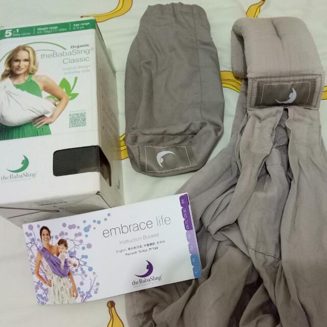 Organic Baba Sling 5 in 1 Baby Carrier