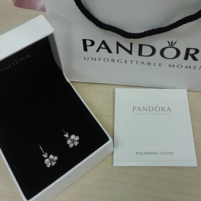 Pandora Flower Dangling earings