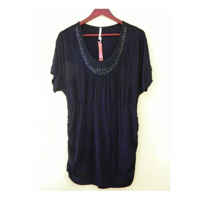 Brand New Plus Size Black Mini Dress 2XL To Semi 3XL