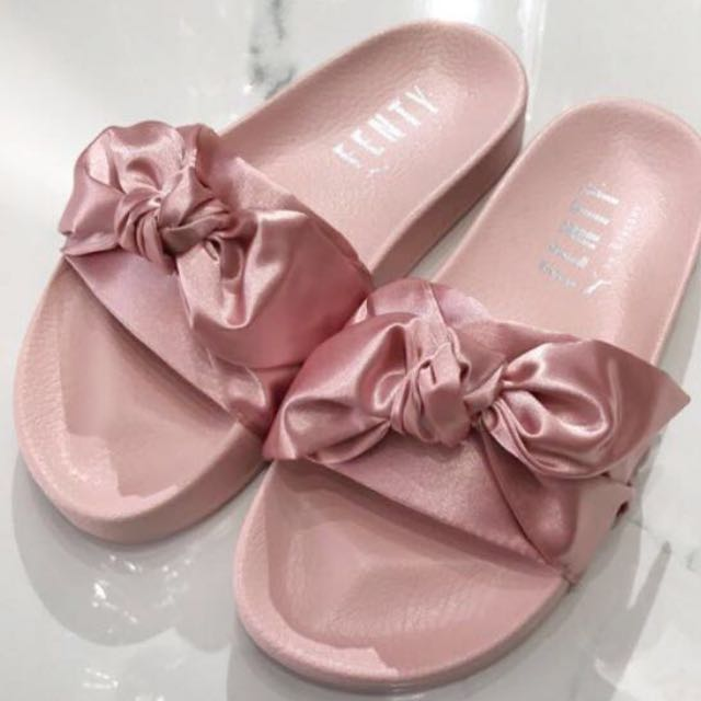 san francisco 6061c 00663 PO: ORIGINAL FENTY PUMA BOW SATIN SLIDES, Women's Fashion ...