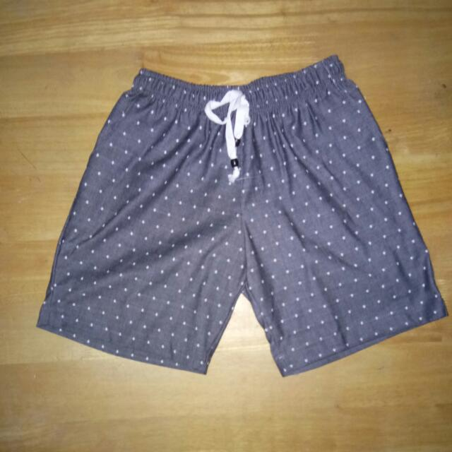 GREY &WHITE DOTTED SUMMER SHORTS