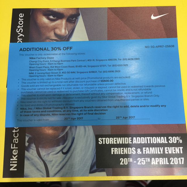 wholesale dealer 454a7 d4a97 SALE! NIKE 30% off Voucher! FAST DEAL! on Carousell