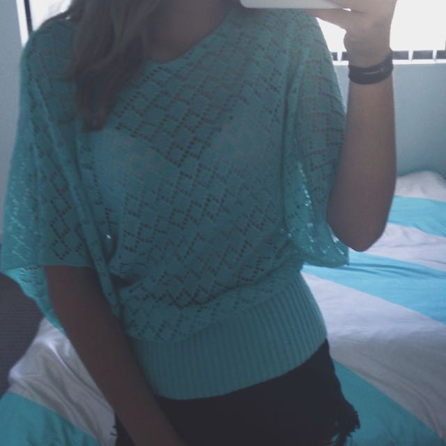 See Through Knit Top