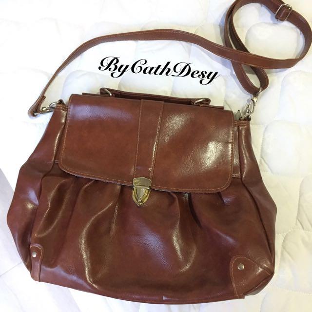 Sling Bag Coklat No Brand