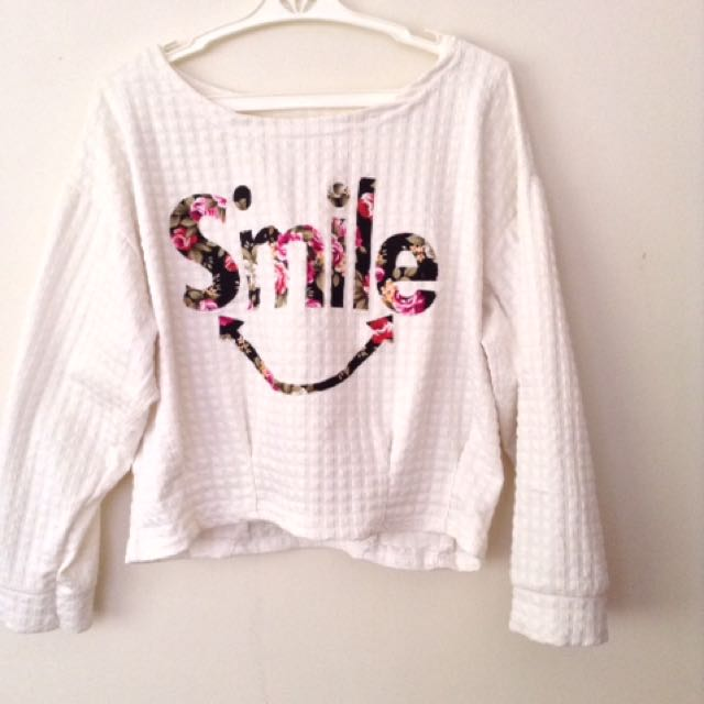 Smile Off-Shoulder Sweater