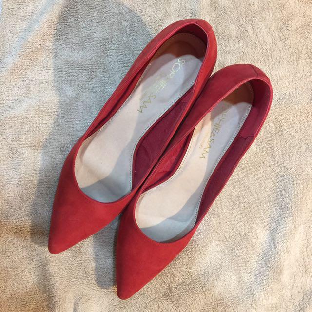 Sophie&Sam 紅色典雅高跟鞋