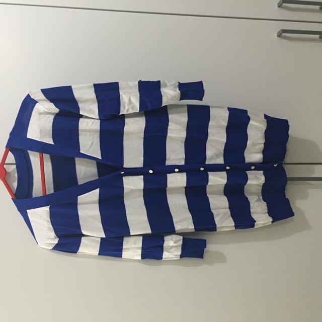 Stripes Blue Cardigan