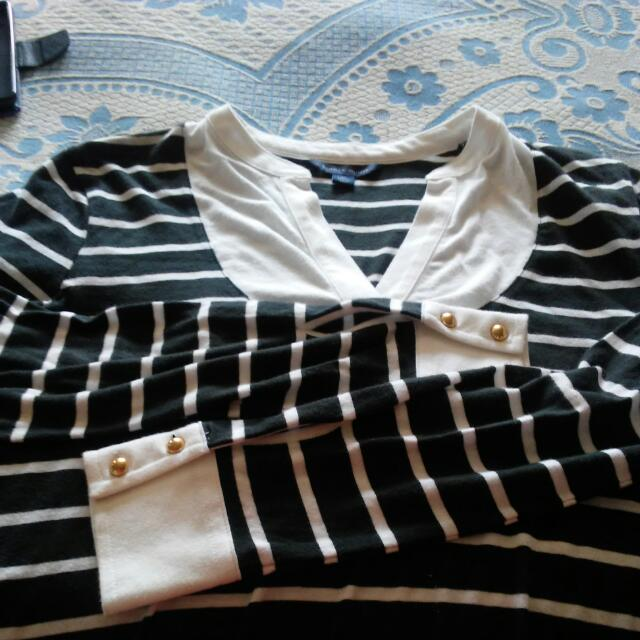 Tommy Hilfiger Black Stripe Top Xs Size