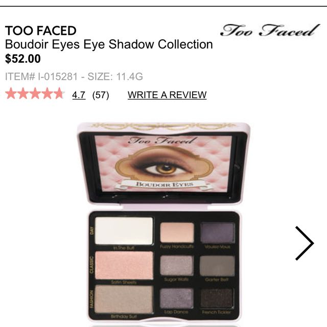 Brand New Too Faced Boudoir Eyes Palette