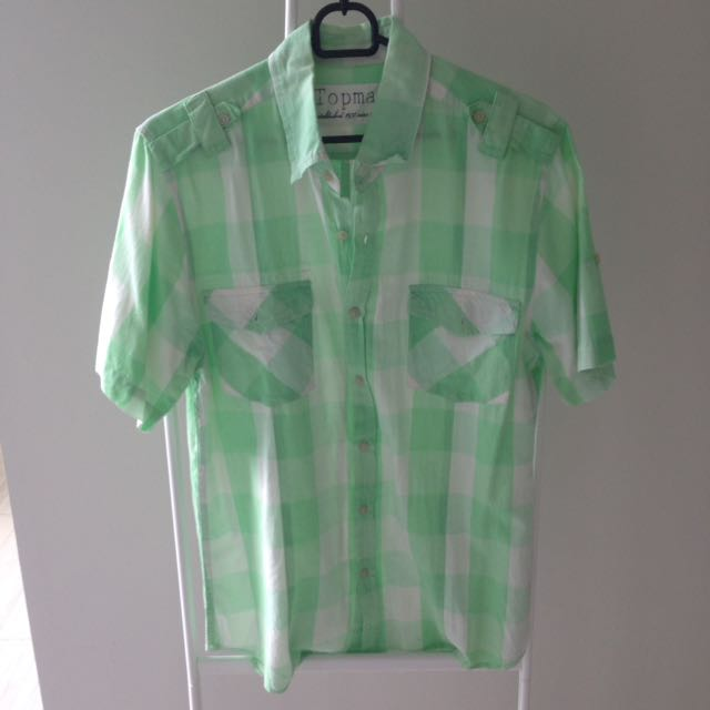 Top Man Shirt Green