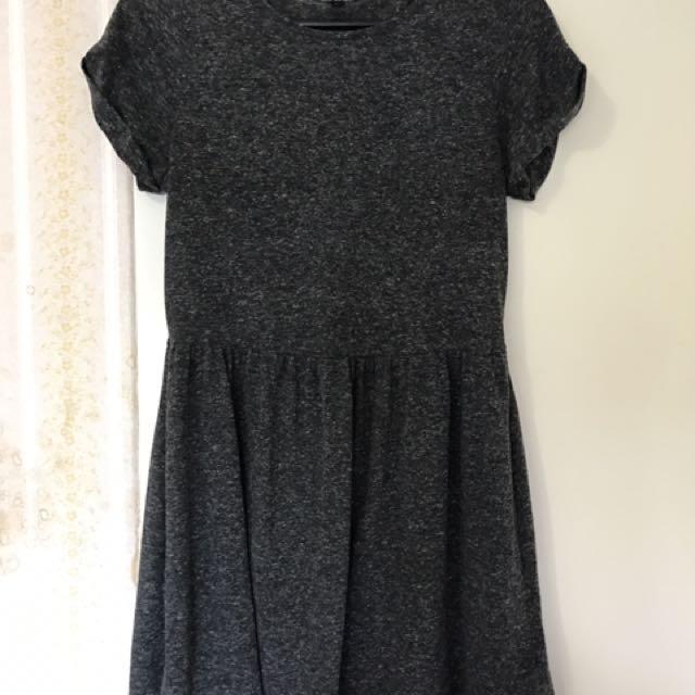 Topshop Petite Grey Jersey Dress Size UK 6