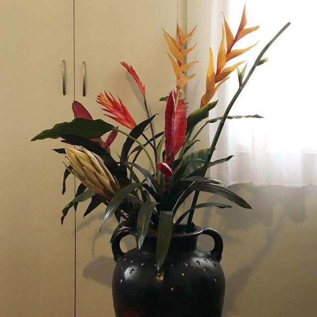 Tropical Flowers w/ Vase