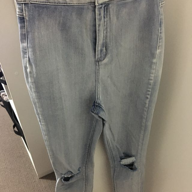 Ultra High Skinny Jean - With Rips