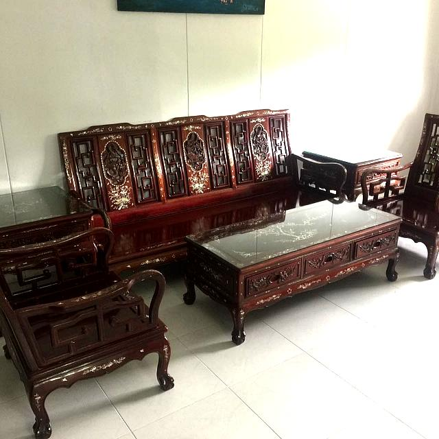 Sofas Set For Sale: Used Rosewood Sofa Set For Sale, Furniture, Sofas On Carousell