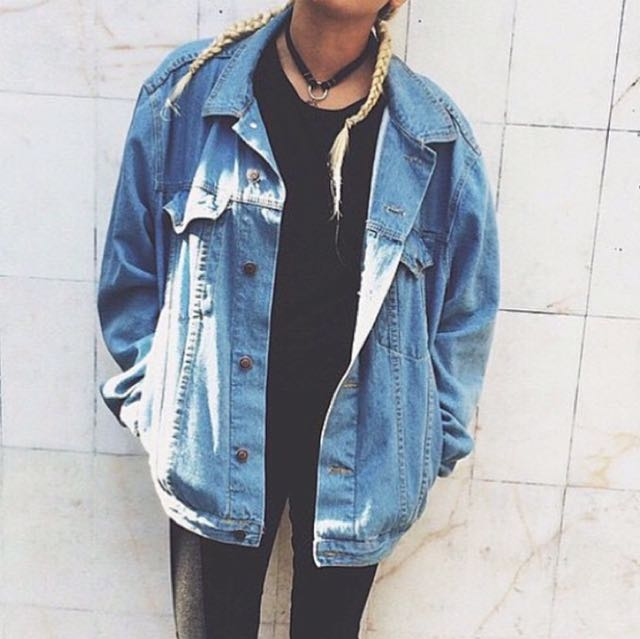 Venom Oversized Denim Jacket