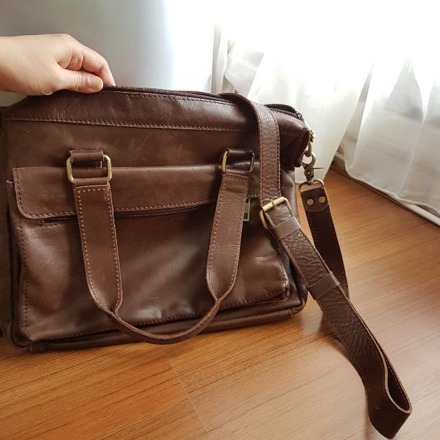 Vintage BAG kulit Sapi Asli