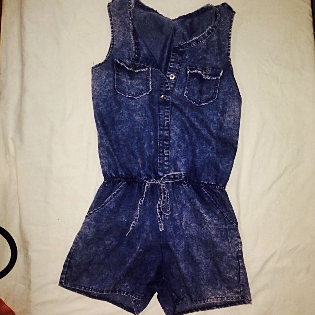 Washed Maong Jumpsuit