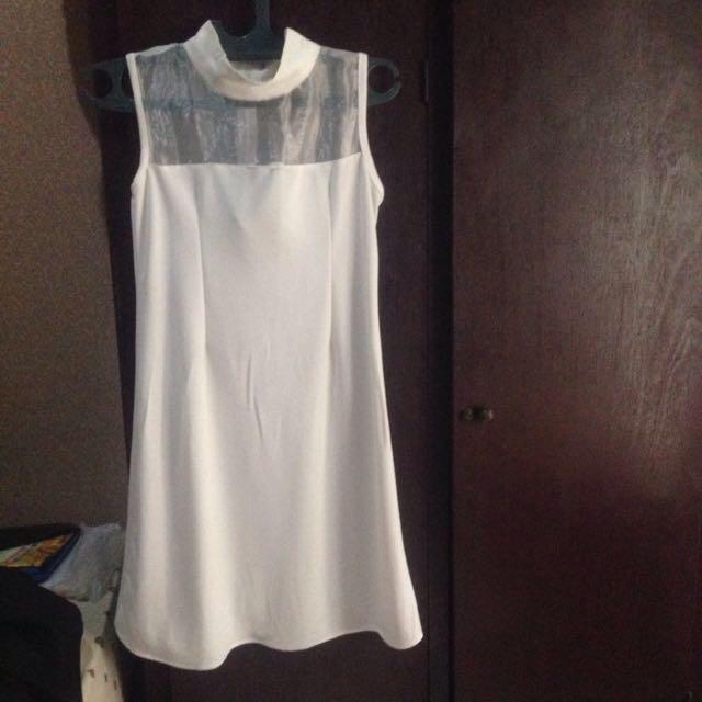 REPRICE!! White Dress Turtleneck