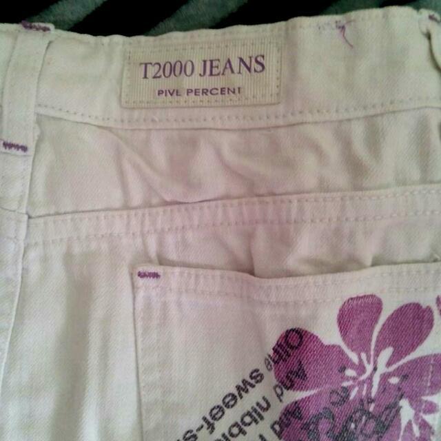White Jeans Skirt