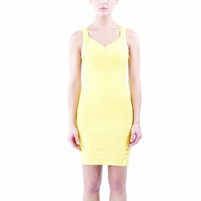 Yellow Bandage Dress