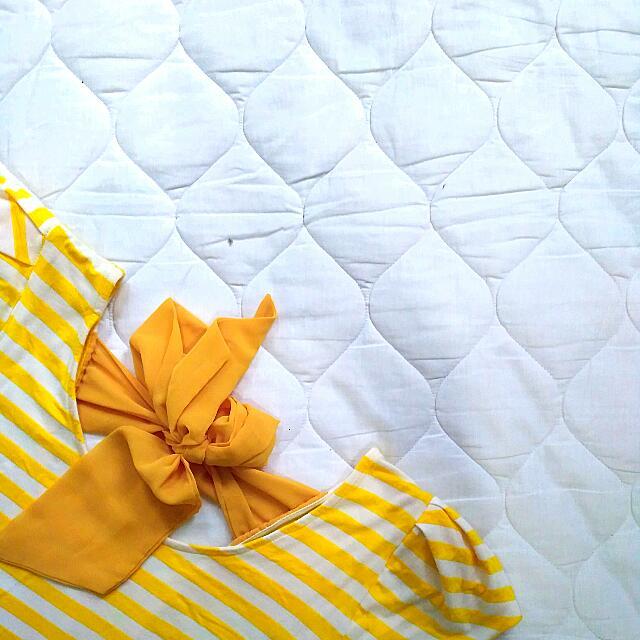 Yellow Ribbon Stripes Top