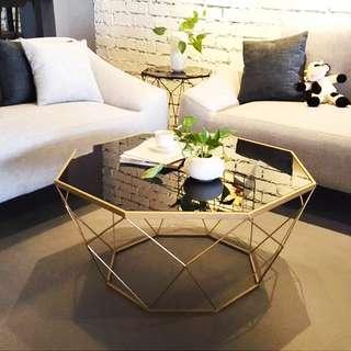 PO Nordic/ Scandinavian Geometric Coffee/ Side Table