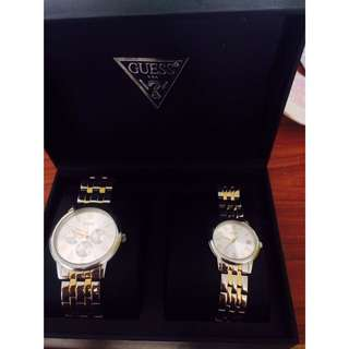 Aunthentic Guess Couple Watch