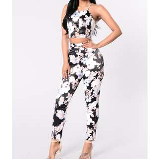 fashion Nova : Just call me fancy -Black set - Medium