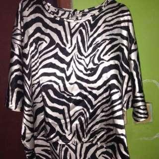 Baju Zebra Bahan Satin Halus