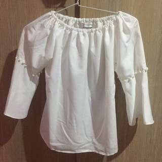 Baju Sabrina Top Putih (White)