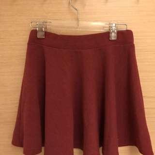 🌻酒紅傘狀裙