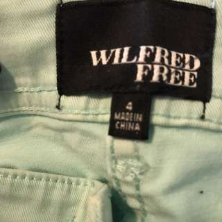 Wilfred Free Mint Colour Pants