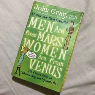 Men Are From Mars, Women Are From Venus- John Gray Book