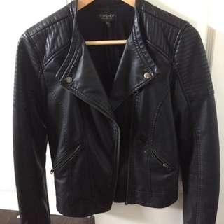 Topshop Leather Jacket Size 2